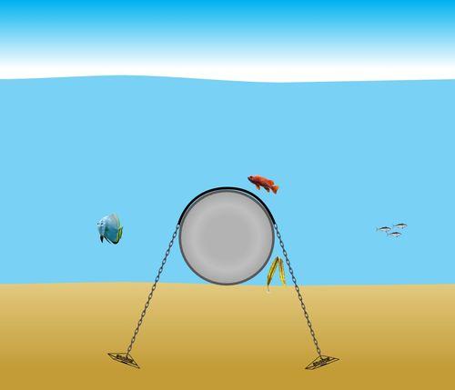 clicca per ingrandire bloccaggio ancoraggio tubazioni subacque www.ntanet.it