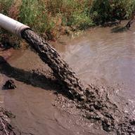 liquame scaricato in laghetto di essiccamento