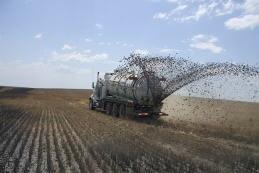 spandimento di liquame su terreno agricolo