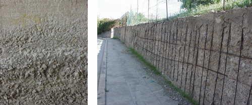 esempio di muro fortemente danneggiato dall'acqua